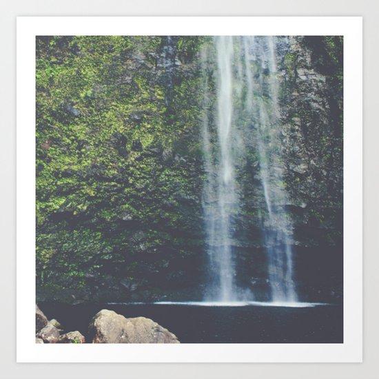 Wanderlust Waterfall in Nature Art Print