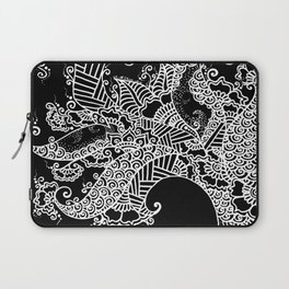Zen Tree Rebirth Black Left Half Laptop Sleeve
