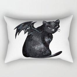 the black cat Rectangular Pillow