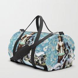 Steampunk Girl Duffle Bag