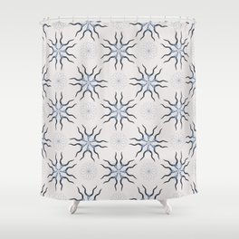KUDO (Blue) Skull Pattern Series Shower Curtain
