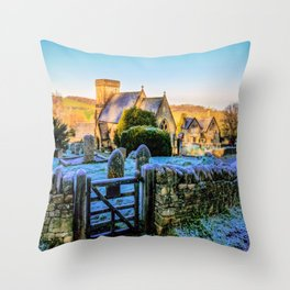 Snowshill View Throw Pillow