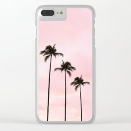 Palm Tree Photography Peach | Blush Pink | Millennial Pink | Miami Clear iPhone Case