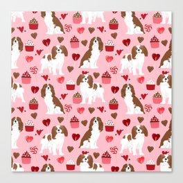 Cavalier King Charles Spaniel valentines day hearts valentine dog breed custom gift for dog lover Canvas Print