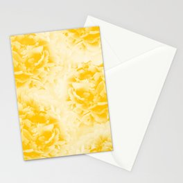 Yellow Peonies Dream #1 #floral #decor #art #society6 Stationery Cards