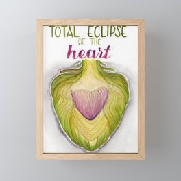 total eclipse of the heart Framed Mini Art Print