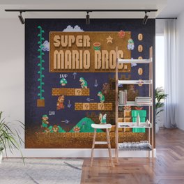 Mario Super Bros Wall Mural