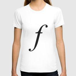 'f' Initial T-shirt