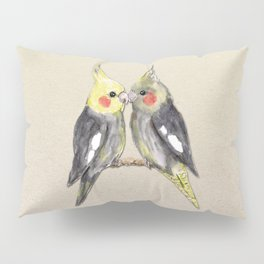 Two cute cockatiels Pillow Sham