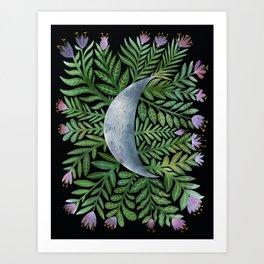Botanical Moon Art Print
