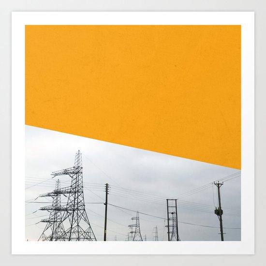Orange Pylons Art Print