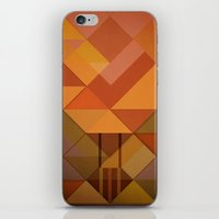 hot air balloon iPhone & iPod Skins featuring Hot Air Balloon Abstract by Alyn Spiller