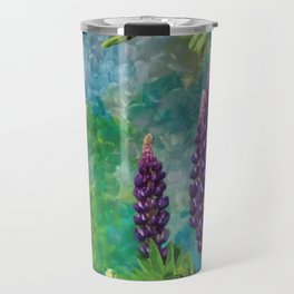 For The Love Of Lupines by annmariescreations Travel Mug