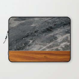 Marble and Wood 3 Laptop Sleeve