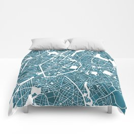 Brussels City Map I Comforters