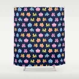 Orchid mantis - Dark Shower Curtain