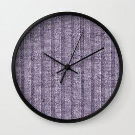Lilac Jersey Knit Pattern Wall Clock