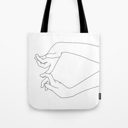 Hands line drawing - Robin Tote Bag