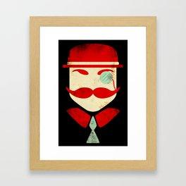 Monocle Man Framed Art Print
