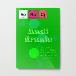 Basil Grande Metal Print