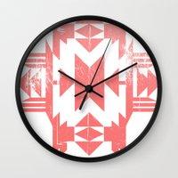 tribal Wall Clocks featuring Tribal by Molnár Roland