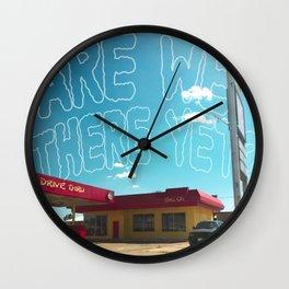 Odesert I (w/ text) Wall Clock