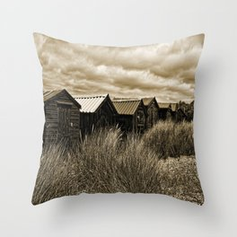 Huts And Dunes Throw Pillow