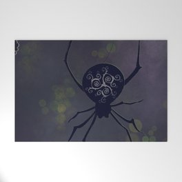 Spider in Spring Welcome Mat