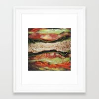vegetarian Framed Art Prints featuring Vegetarian Sandwich by Tianna Chantal