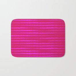 Abstract Zebra — Pink Bath Mat