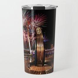 Fireworks at Swansea SA1 Travel Mug