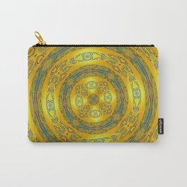 Yellow/Blue Manadala Carry-All Pouch