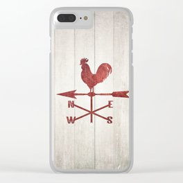 Rustic Weather Vane  (Red) Clear iPhone Case