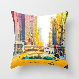 Colors of New York City Downtown Manhattan Throw Pillow