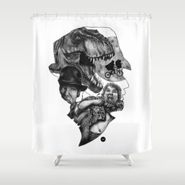 The art of Spielberg Shower Curtain