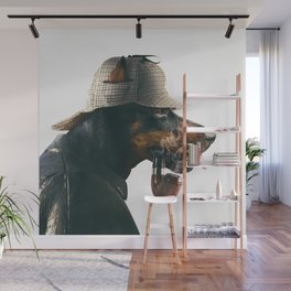 Scherlock dog Wall Mural
