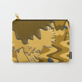 Shades of Brown Waves Carry-All Pouch