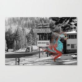 Unseen Monsters of Mount Shasta - Ukelt Anzilk Canvas Print