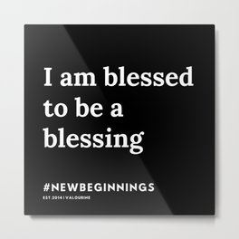 18   | 191124 |  New Year | List Of Mantras | Affirmations For New Beginnings Metal Print