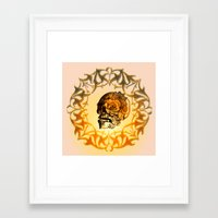 sugar skull Framed Art Prints featuring Sugar skull by nicky2342