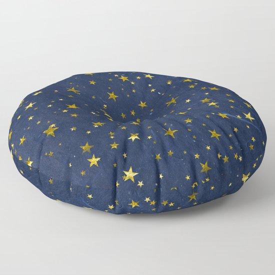 Golden Stars on Blue Background by uteb