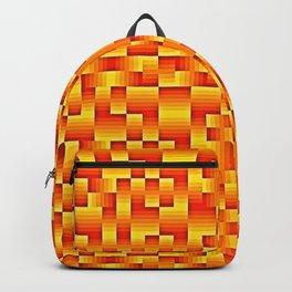 Orange Geo Pattern Backpack