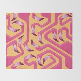 Flamingo Maze Throw Blanket