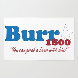 Vote for Burr- Election of 1800 Rug