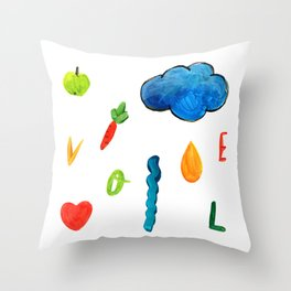 Spring love Throw Pillow