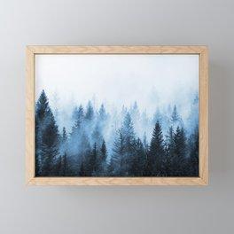 Misty Winter Forest Framed Mini Art Print