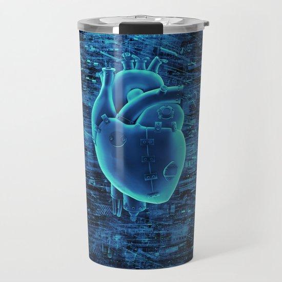 Gamer Heart BLUE TECH / 3D render of mechanical heart by grandeduc