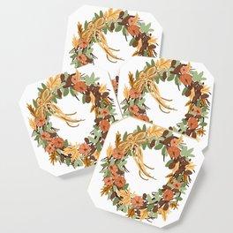 Thanksgiving wreath Coaster