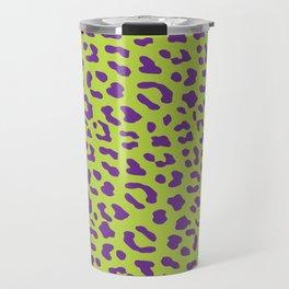 Leopard skin neon green Travel Mug