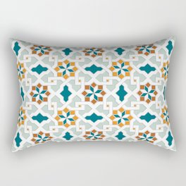 Geometric Pattern, oriental style (nature color set)  traditional morocco tile pattern Rectangular Pillow